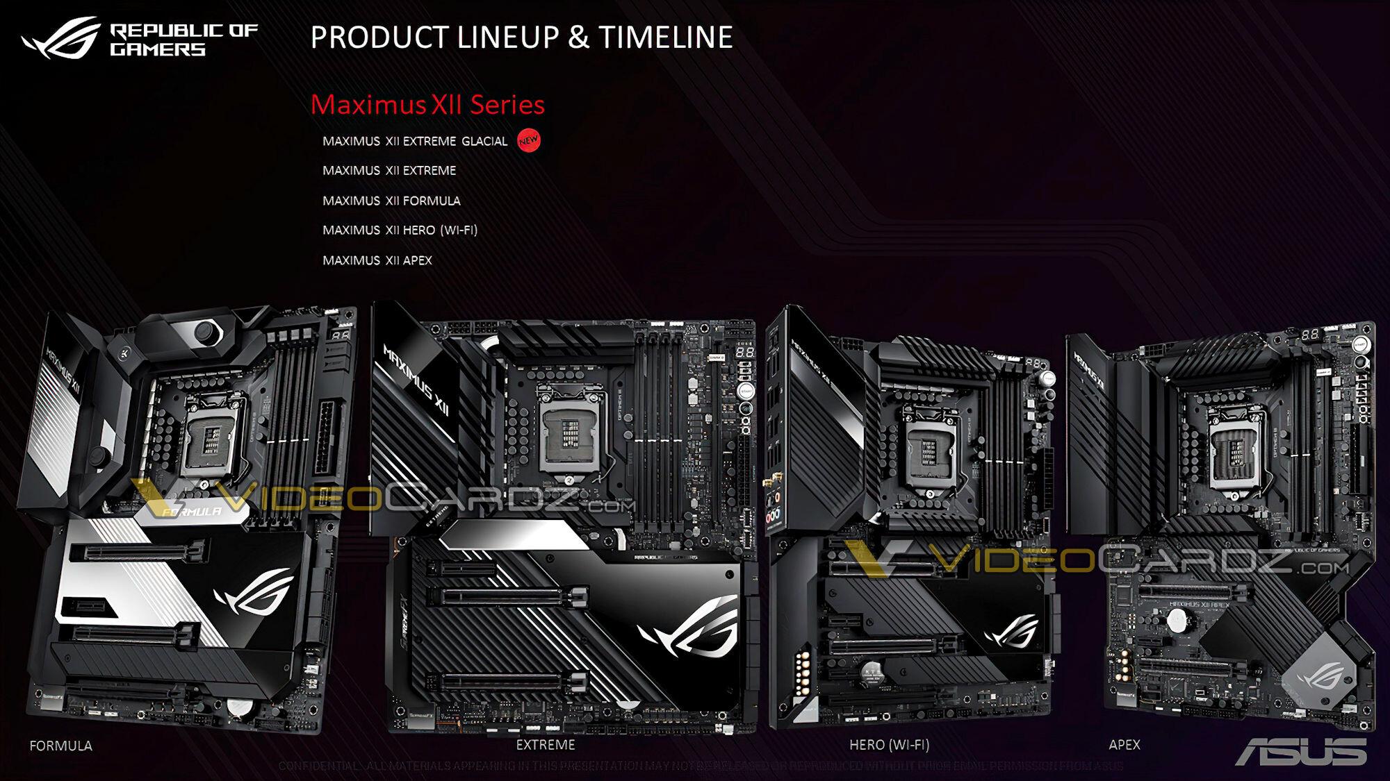Intel Z490 motherboard ASUS ROG MAXIMUS XII Series