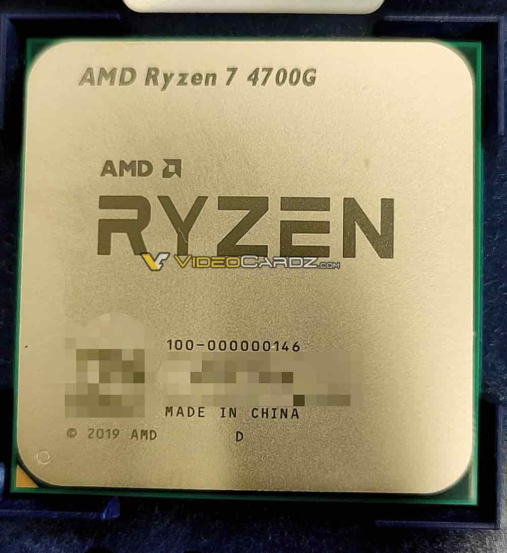 AMD Zen 2 Ryzen 7 4700G Renoir Ryzen 4000 7nm Vega GPU