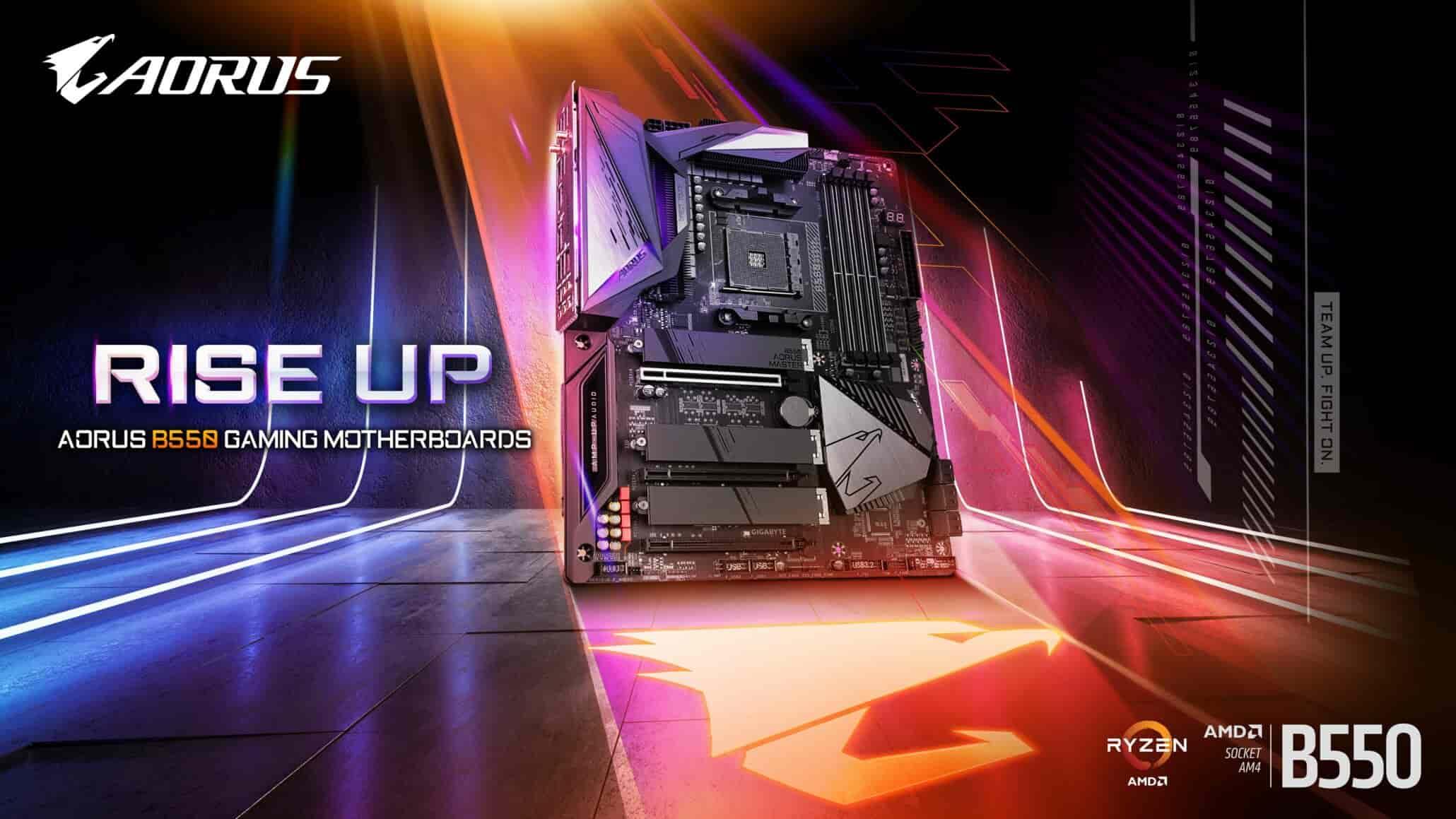 Gigabyte AMD B550 chipset motherboard